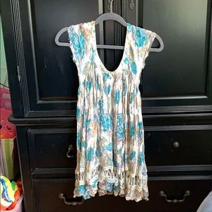 Free people Tunic / Blouse Cream and blue